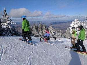 Kerry skis Pico Mountain