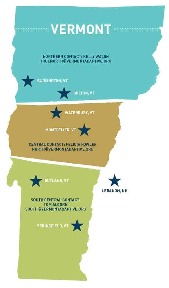 new-locations-map | Vermont Adaptive Ski & Sports